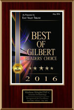 Best of Gilbert Reader's Choice 2016 award