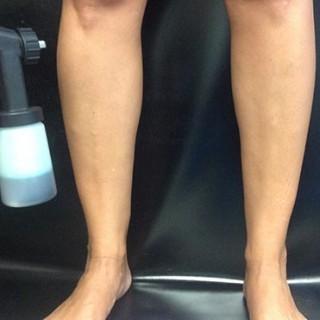 Spray Tan On The Legs