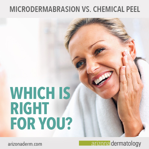 Microdermabrasion vs. Chemical peels