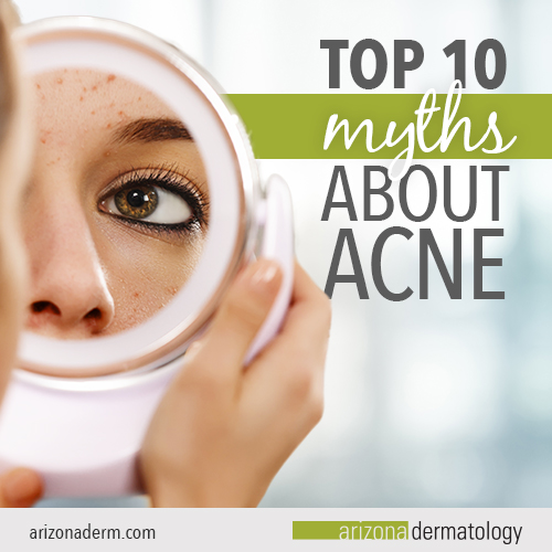 Top 10 myths about acne